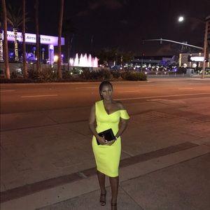 Asos neon midi dress